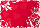 valentines background with hearts poster