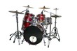 isolated drum set