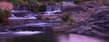 waterfall sunset panorama poster
