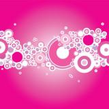 bubble magenta poster