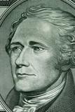 close-up of a ten dollar bill poster