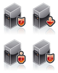 """design elements 51a. """"internet computer and software icons set"""""""