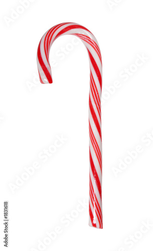 Foto op Canvas Snoepjes big candy cane isolated with path