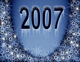 christmas blue magic frame. new 2007 year poster
