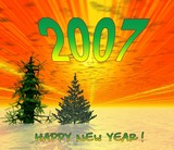 happy new years. 2007 poster