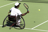 wheel chair tennis for disabled persons (men) poster