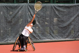 wheel chair tennis for disabled persons (women) poster