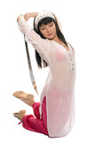 yaung beauty eastern girl with sword poster