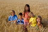 Fototapety children in cereal