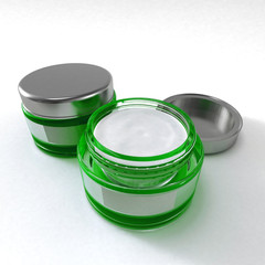 cosmetic cream green