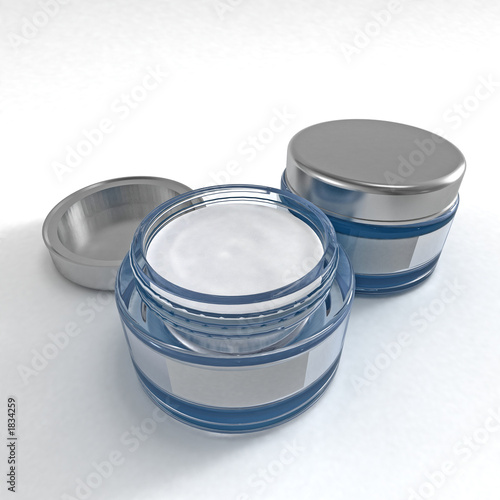 poster of cosmetic cream blue
