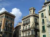 remarkable buildings in barcelona poster