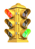 vintage traffic signal poster