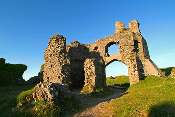 ruined castle - evening light