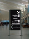 airport directions poster