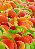 Fototapety colorful abstract fruit background