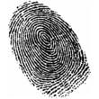 Leinwandbild Motiv fingerprint