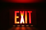 emergency exit sign poster