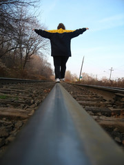 walking on the tracks