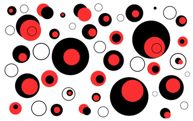 red & black & white circles