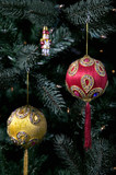 indian asian christmas baubles poster