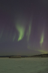 sporadic aurora in the sky