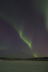 faint aurora borealis