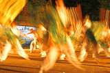 night japanese dance-motion blur abstract poster