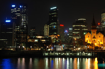 sydney harbour nightscape
