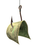 money on a hook - concepts and symbols 3d poster