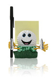 golfball notepad poster
