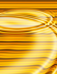 golden liquid ripples
