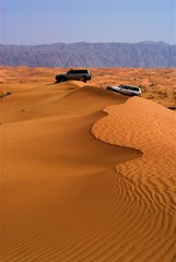 stuck in the dunes in al hayer