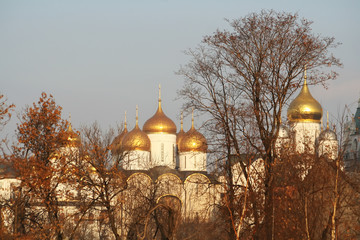 domes of church in old moscow