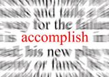 accomplish poster