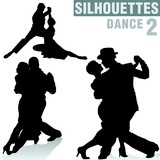 Fototapety silhouettes dance 02