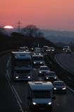 circulation au lever du jour poster