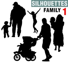 silhouettes - family 1