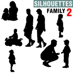 silhouettes - family 2