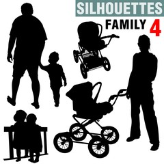 silhouettes - family 4