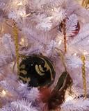 black ball and slipper ornament poster