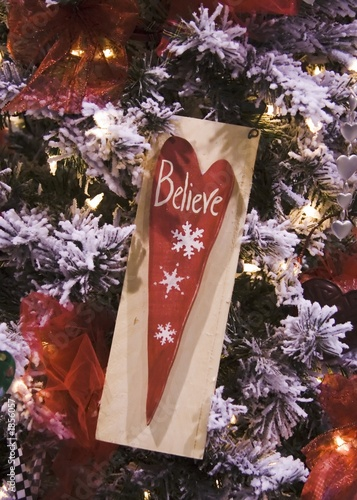 poster of believe heart ornament