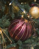 ruby stripped ball ornament poster