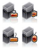 design elements 51e. internet computer and software icons set poster