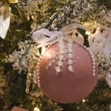 deep pink ball ornament poster