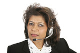 caring telephone operator poster
