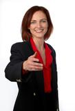 friendly businesswoman poster