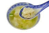 dumpling soup with spoon poster