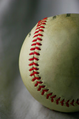baseball closeup