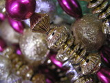 holiday string of beads poster